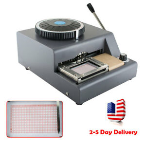 Pro 72character Manual Stamping Machine Pvc id credit Card Embosser Code Printer