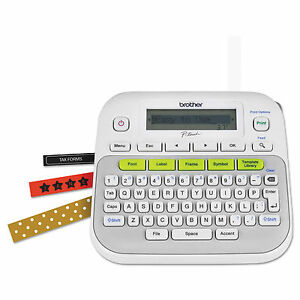 Brother Ptd210 P touch Easy Compact Label Maker White New nib Reduced