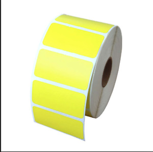 Yellow 2x1 Direct Thermal Labels Shipping Barcode 1375 Labels P r 6 Rolls