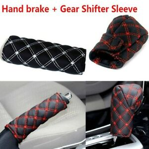 Universal Auto Car Pu Leather Gear Shift Knob Cover Hand Brake Cover Sleeve