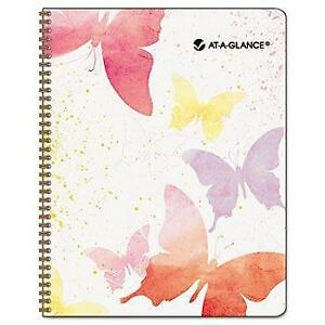 At a glance Recycled Watercolors Monthly Planner Design 6 7 8 X 8 3 4 2014
