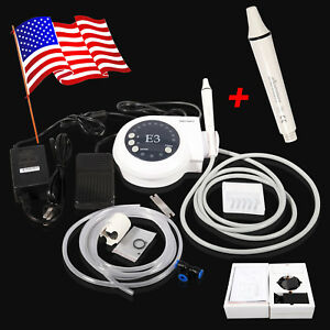 Portable Ultrasonic Piezo Scaler With Extra Handpiece Fit Ems Woodpecker E3 ems