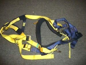 Used Dbi sala 1000054 Vest Style Full Body Safety Harness lg Free Shipping