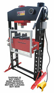 New Redline Re75t Shop Press 75 Ton Auto Automotive Hydraulic Air Metal