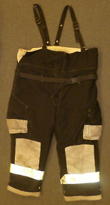 54x28 Firefighter Pants With Suspenders Bunker Turnout Fire Gear Cairns P907