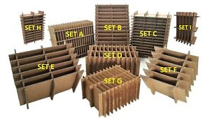 Corrugated Multi use Cardboard Partitions Dividers 5 Pack boxes Not Included