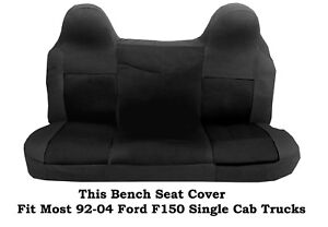 Black Mesh Fabric Bench Seat Cover Fit Most Ford F 150 Single Cab Truck s 92 04