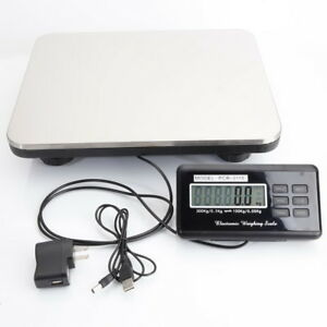 660lbs 300kg 100g Digital Scale Steel Platform For Kitchen Postal Us Plug