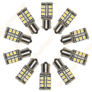 50 X Warm White Car 1156 382 Tail Turn Signal 30 Smd Led Bulb Lamp Light Ba15s
