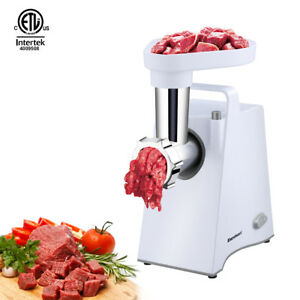 600w Electric Meat Grinder Sausage Stuffer Blade Grind Plate Stainless Steel
