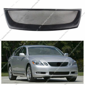 Black Resin Front Bumper Center Grille Grill For Lexus Gs300 Gs400 Gs430 06 07