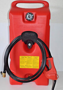 Scepter Portable Gasoline Rolling 14 Gallon Mobile Fuel Storage Gas Siphon Pump