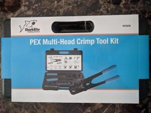 Sharkbite Pex Multi head Crimp Tool Kit New 3 8 1 2 3 4 1 in Jaws