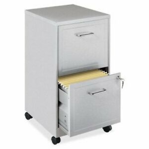 Lorell Steel Mobile File Cabinet 2 dr 14 1 4 x18 x24 1 2 Mc ccl llr16873