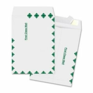 Business Source Catalog Envelopes First Class 100 Per Box White bsn65860