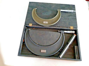 Two Lufkin Micrometers In One Set Box