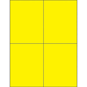 Box Partners Rectangle Laser Labels 4 1 4 X 5 1 2 Fluorescent Yellow 400 case