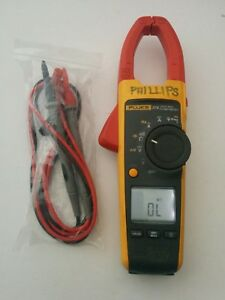 Fluke 376 True Rms Ac Dc Current Clamp Meter Multimeter New Test Lead Probes