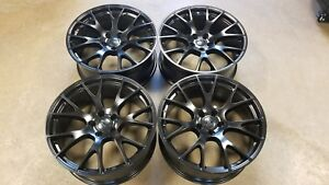 20 New Factory Style Dodge Charger Srt Hellcat Wheels Satin Black Set Of 4