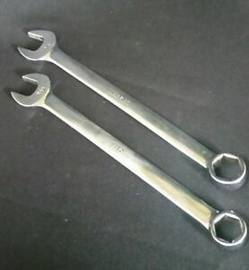 Lot Of 2 Snap On Tools Wrenches 6 Point 3 4 11 16 Combination Osh 22 24 Usa Made