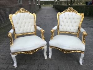 A Pair Of Antique French Louis Xvi Chairs 2 Pieces
