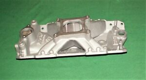 Vintage Edelbrock Scorpion 1 Sbc Air Gap Small Block Chevy Aluminum Intake 2950