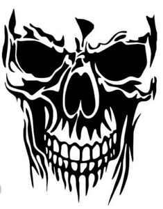 Skull Vinyl Decal Sticker For Car Truck Motorcycle Bumper Wall Window Laptop