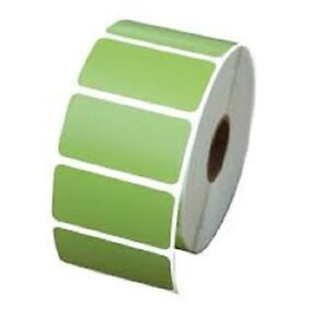 Green 3 X 1 Zebra Compt Direct Thermal Shipping Labels 20 Rolls 1375 roll