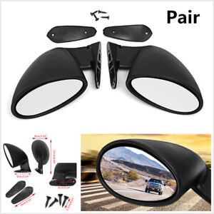 2x Universal Classic Car Door Side Mirror Hot Rod Vintage Black L r Replacement