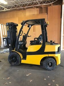 3 2014 Yale Glp060 Forklifts Triple Stage Side Shift