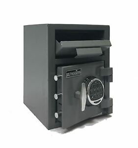Front Loading Cash Drop Slot Depository Safe Box With Ul Listed Lock