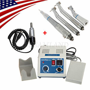 Dental Lab Marathon Electric Micro Motor 2 High 1 Slow Speed Handpiece Kit S