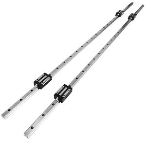 Hgh20 1500mm 2x Linear Rail Set 4x Bearing Block Guideway Square Type 20mm
