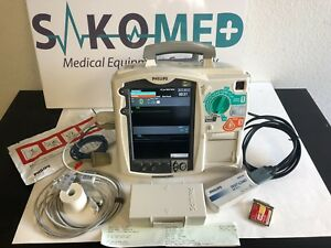 Philips Heartstart Mrx 3 Lead Aed Pacer Spo2 Tested 6 month Warranty