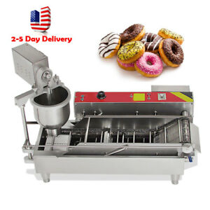 Usa 7l Electric Automatic Donut Ball Doughnuts Machine Maker Fryer 3 Size Outlet