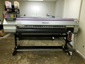 2013 Mimaki Jv33 160 With Bulk Ink System And Take up Reel 64 Great Condition