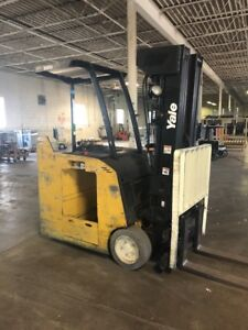 2006 Yale Esc040 Dock Stocker Forklift Triple Stage 4 000 Lb Lift Capacity