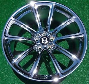4 New Chrome Oem Bentley Continental Gt Supersports 20 Inch Super Sport Wheels