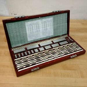 Starrett P w 88 Piece Square Gage Block Set 0 5 To 100mm Used