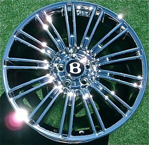 4 New Chrome Oem Factory Bentley Gt Speed 20 Inch Wheels Continental Flying Spur