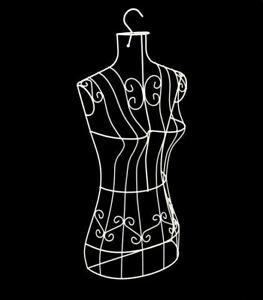 Wire Metal White Female Torso Hanging Mannequin Metal Dress Form With Hanger