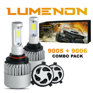 Lumenon 9006 9005 Combo Led Headlight Kit Low High Beam 6000k 180w 270000lm Hb4