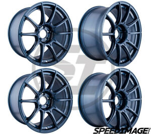4x Ssr Gtx01 18x9 5 22 5x114 3 Blue Gunmetal Set Of 4 Wheels Wheel Evo 8 9 Tsx