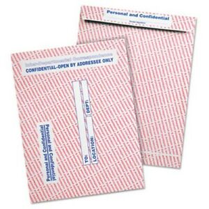 Gray red Paper Gummed Flap Confidential Envelope 10 X 13 100 box qua63778