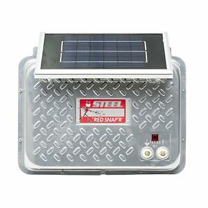 Red Snap r Esp12v rss Steel 12v Solar Fence Charger