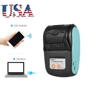 Wireless Bt Usb Thermal Receipt Printer 58mm Line Mobile Pos Android Window Z4t4