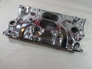 E Force 82006 Chevy Sbc 350 Dual Plane Vortec Intake Manifold Polished