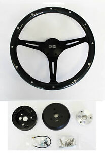 Chevelle El Camino Nova Grey Wood Steering Wheel On Black Spokes 15 Ss Cap