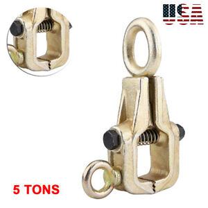 5 Ton Self Tightening Single Way Long Nose Pull Clamp Grips Auto Body Repair