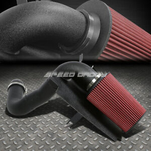 For 98 03 Sonoma S10 2 2 L4 Wrinkle Finish Aluminum Cold Air Intake Heat Shield